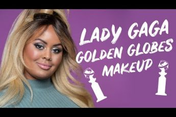 lady gaga golden globes makeup