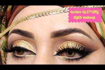 How to Do Golden Glittery eyes makeup for #shadiseason // step by step party makeup like salons
