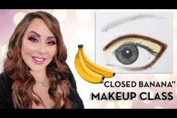 "The ""Closed Banana"" Makeup Class – techniques to make eyes larger & using lipsticks as eye bases"