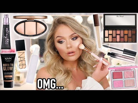 FULL FACE OF NEW MAKEUP TESTED   KELLY STRACK