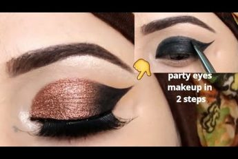 Barat Easy and Simple eye makeup tutorial in just two steps_zainab numan