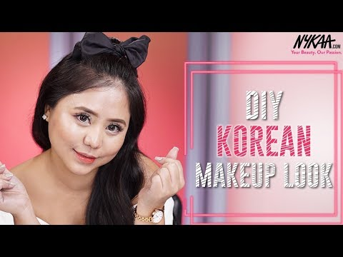 Easy Korean Makeup Look Ft. Annalia Zhimomi |  Puppy Eyes & Dewy Skin Tutorial | Nykaa