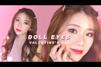 DOLL EYES MAKEUP FOR VALENTINE'S DAY | MONGABONG