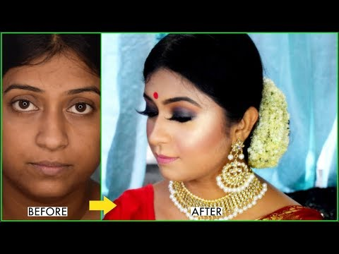 WEDDING GUEST / NEWLY MARRIED GIRL's MAKEUP AND HAIR TUTORIAL | SMOKEY EYES | STEP BY STEP IN HINDI