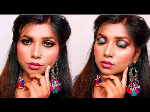How to do Step by Step Party Makeup Tutorial l Hollow Eyes Makeup Tutorial l By kiranshankar