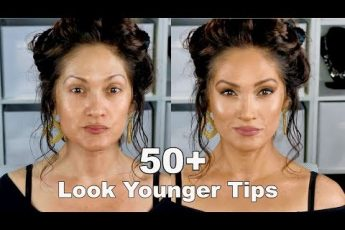 LOOK YOUNGER WITH MAKEUP TIPS | Full Face Routine 50+