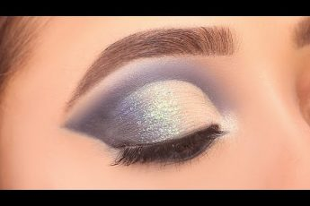 Glittery Blue Smokey eye makeup Tutorial || Simple and easy eye makeup look|| Shilpa