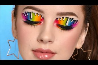 INSTAGRAM Makeup – DRIPPING RAINBOW Eye Makeup Recreation