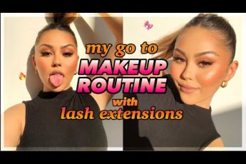 my go to makeup routine with lash extensions!! *no fallout*