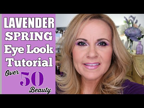 LAVENDER EYESHADOW TUTORIAL FOR MATURE SKIN | HOODED EYES